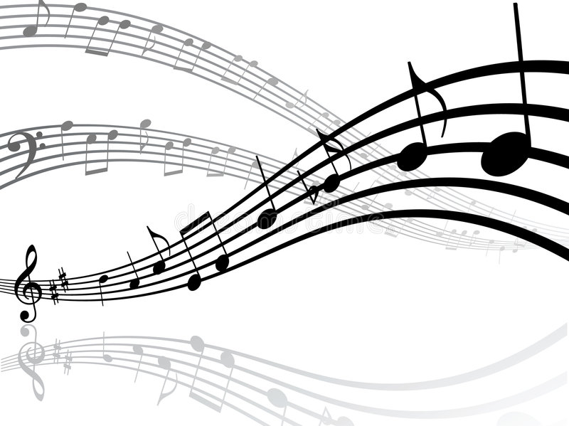 Musical Lines With Notes Stock Photography