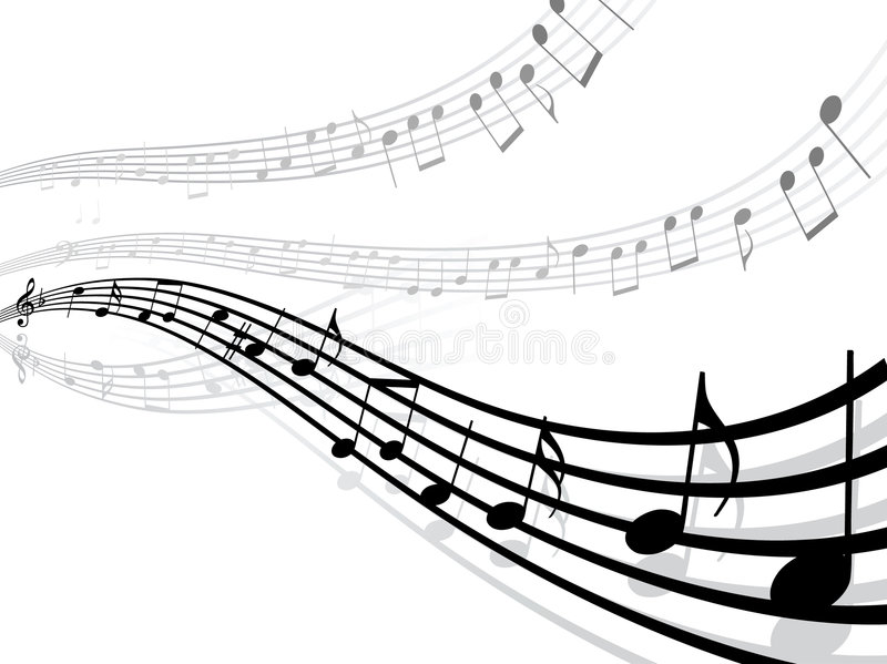 Musical Lines With Notes Royalty Free Stock Image