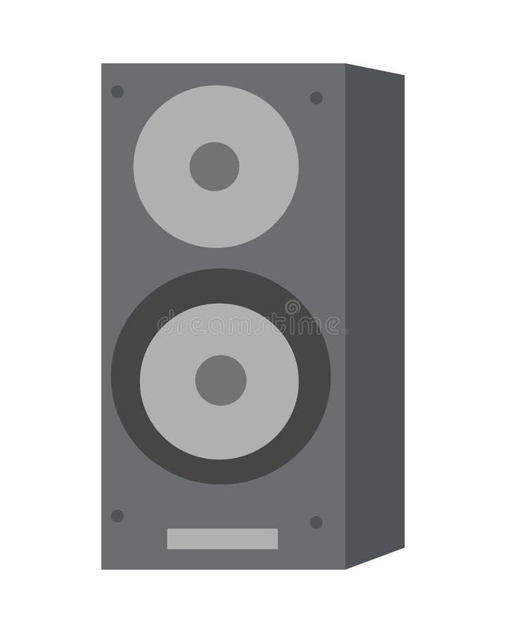 Musical Loud Speaker Isolated. Acoustic Amplifier. stock illustration