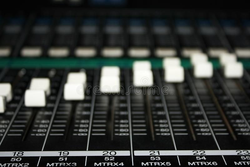 Musical mixer royalty free stock photo