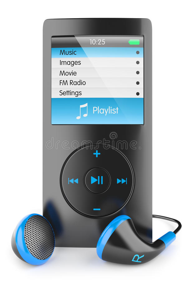 Free Musical Mp3 Player Royalty Free Stock Photo - 53239725