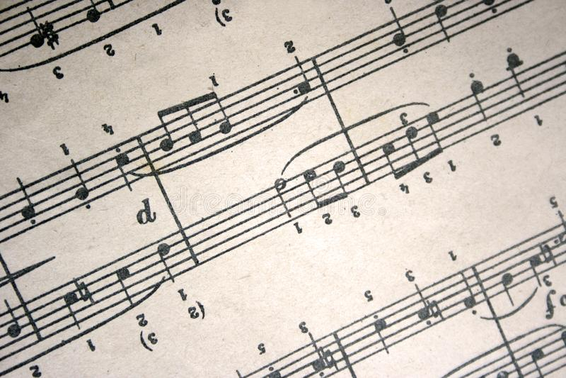 Musical nota a composição da arte imagem de stock