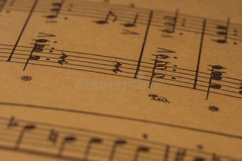 Musical notation, a piano score stock photos