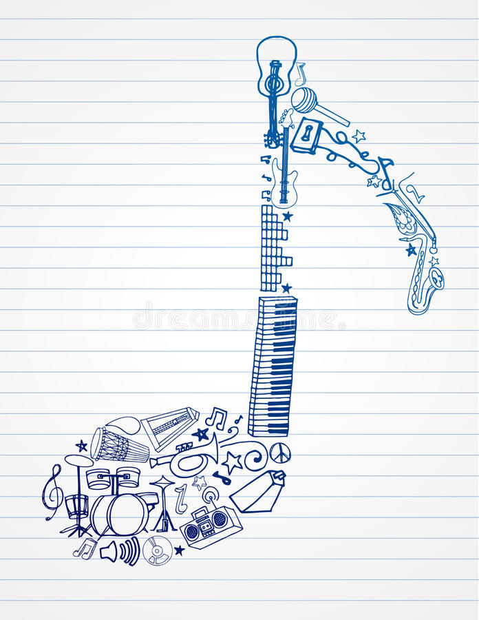 Musical Note stock illustration