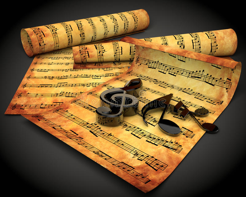 Download Musical Note stock illustration. Image of background - 24919484