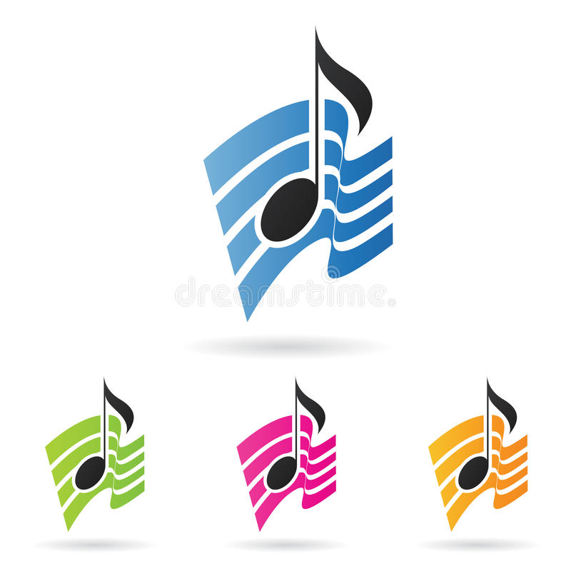 Musical note royalty free illustration