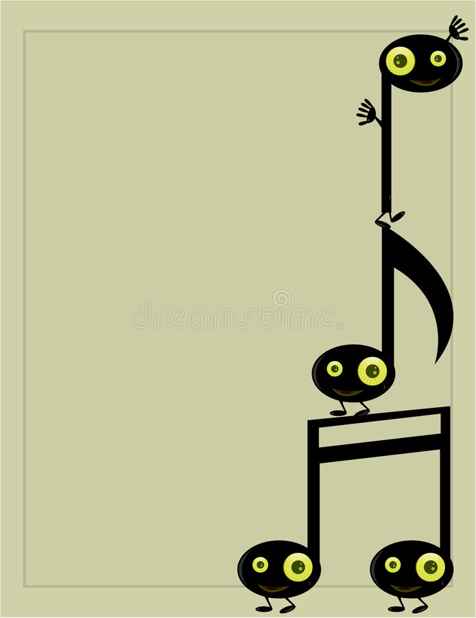 Download Musical Note Character Background 3 Stock Vector - Image: 10052517