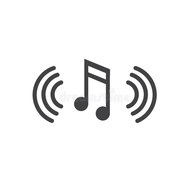 Musical Note with Sound Wave Icon Denoting Music Soundwave Being vector illustration