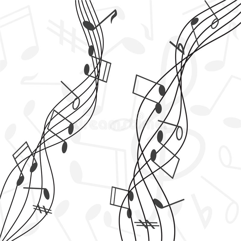 Download Musical notes stock vector. Image of flow, note, tone - 23155473
