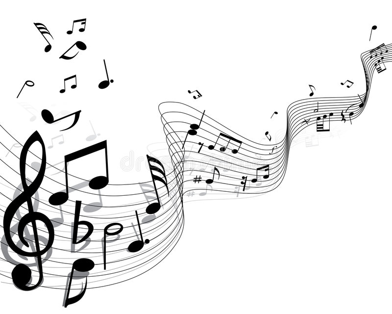 Download Musical notes stock vector. Image of crotchets, clefs - 5951621