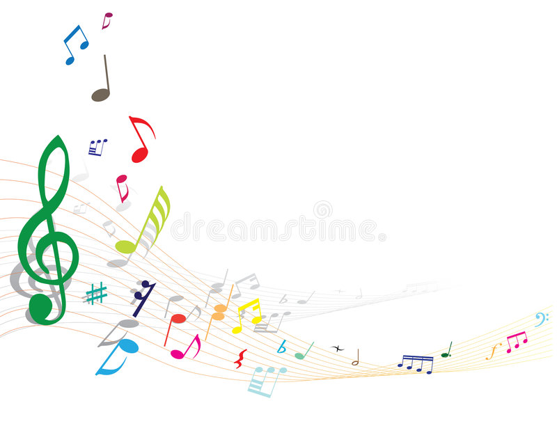 Musical notes royalty free illustration