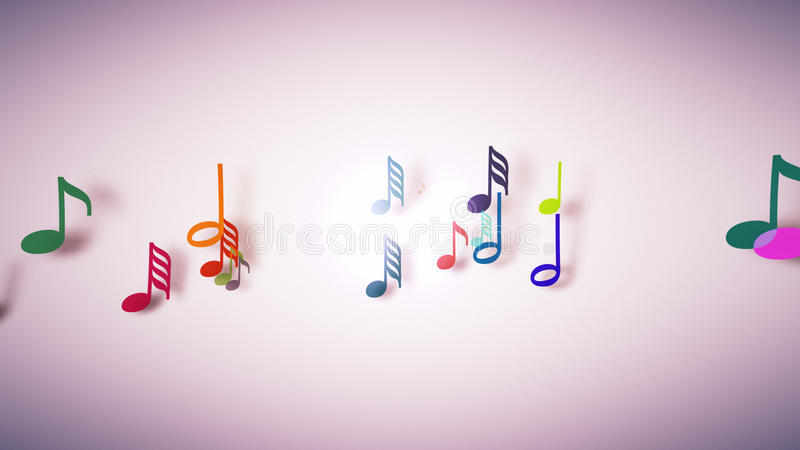 The musical notes with depth of field stock illustration