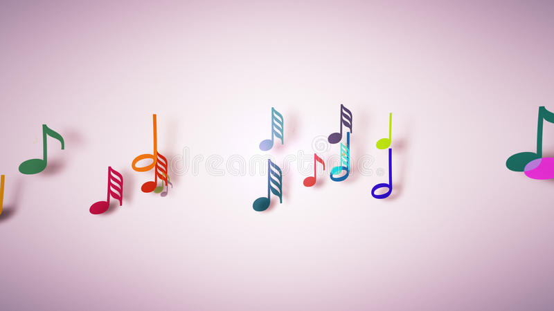 The musical notes with depth of field vector illustration