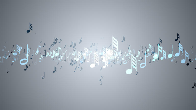 The musical notes with depth of field royalty free illustration