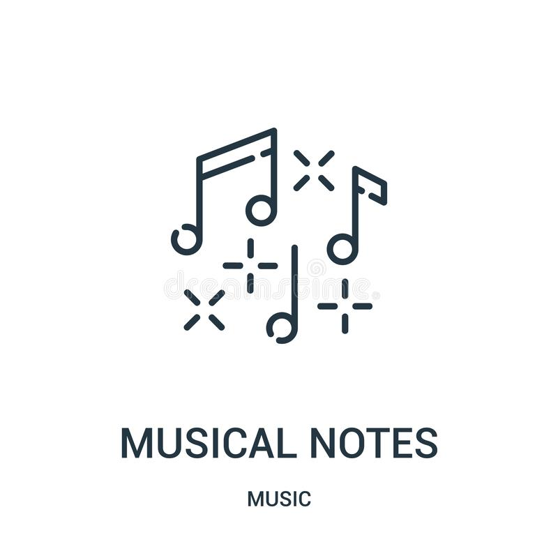 musical notes icon vector from music collection. Thin line musical notes outline icon vector illustration stock illustration