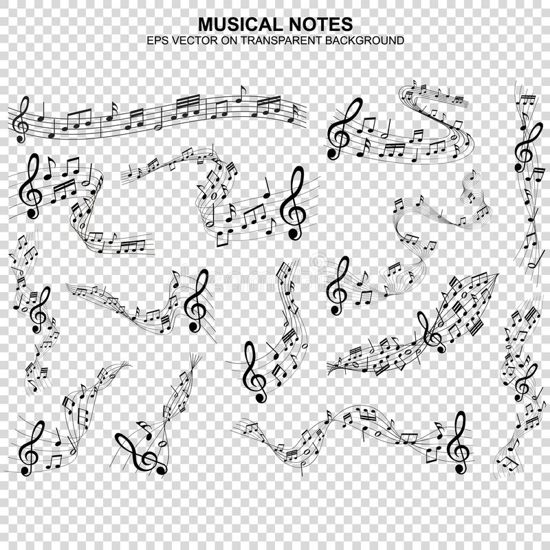 Free Musical Notes Melody On Transparent Background Royalty Free Stock Image - 167776636
