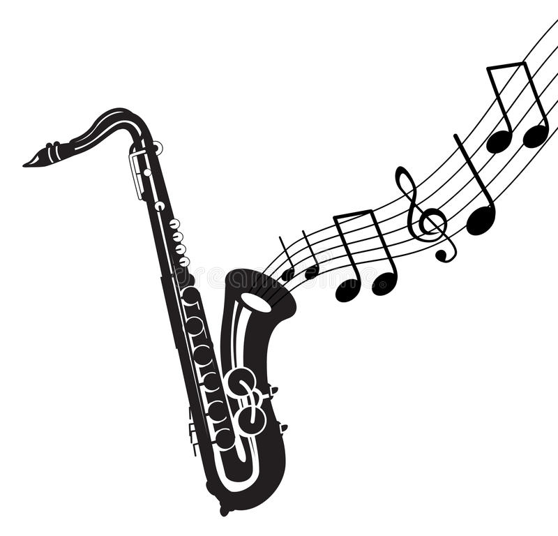 Download Musical Notes With Saxophone Stock Vector - Image: 12087540