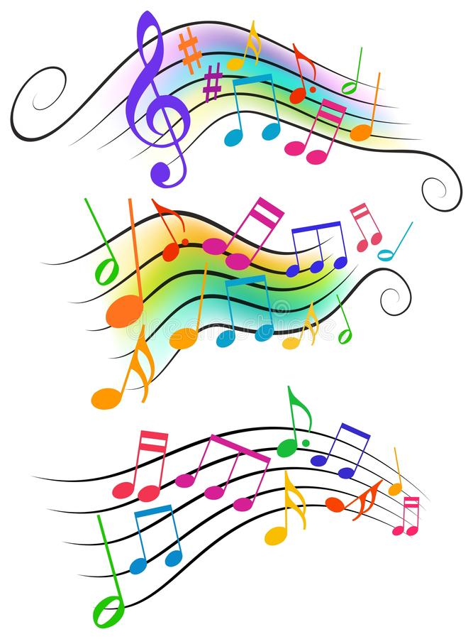 Musical notes stock illustration