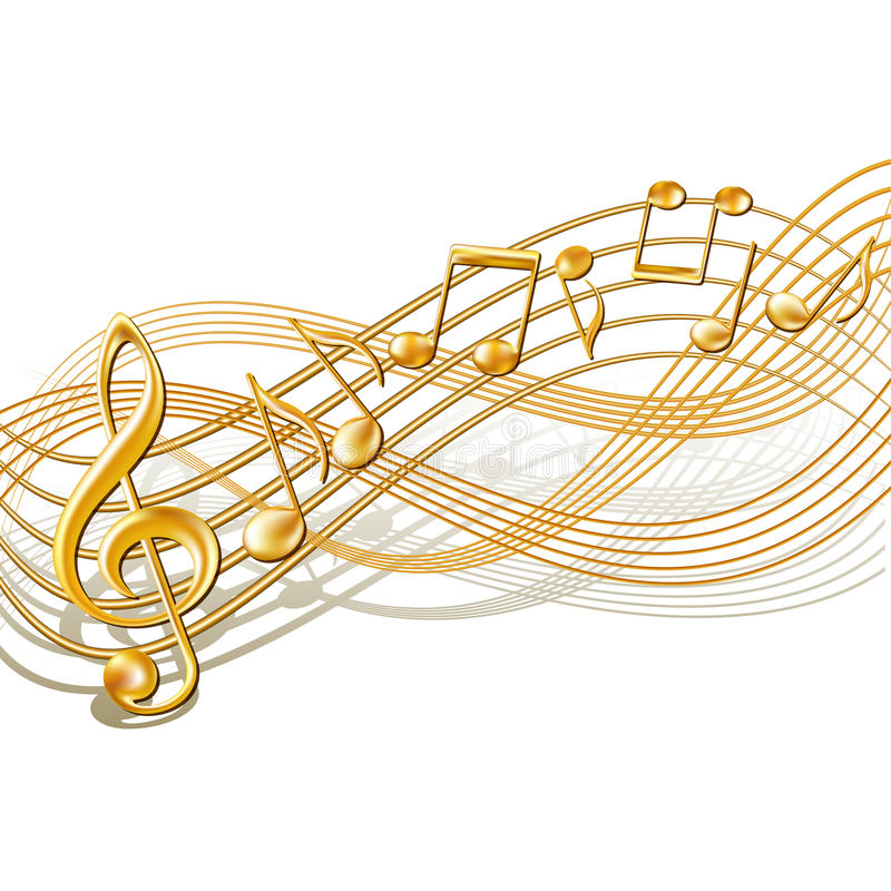 Free Musical Notes Staff Background On White. Stock Photo - 31270820