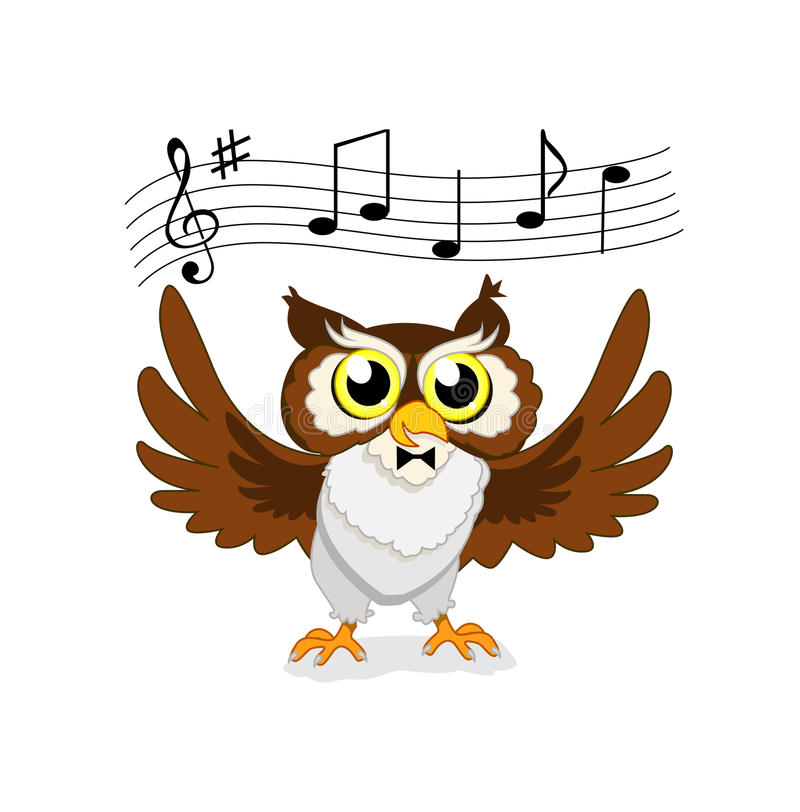 Musical owl royalty free stock photo