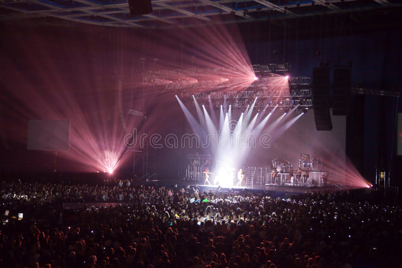 Musical performance concert. light show. stock images