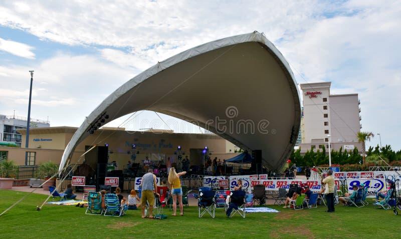 Musical performance in Neptune`s Park, VA. Musical performance in Neptune`s Park, Virginia Beach, Virginia, USA royalty free stock image