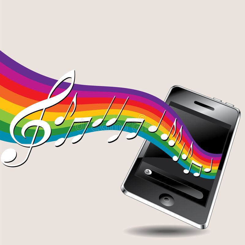 Musical Phone Background royalty free illustration