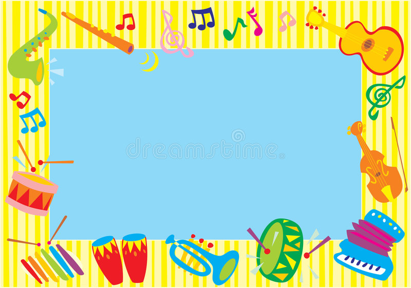 Musical photo-frame stock illustration