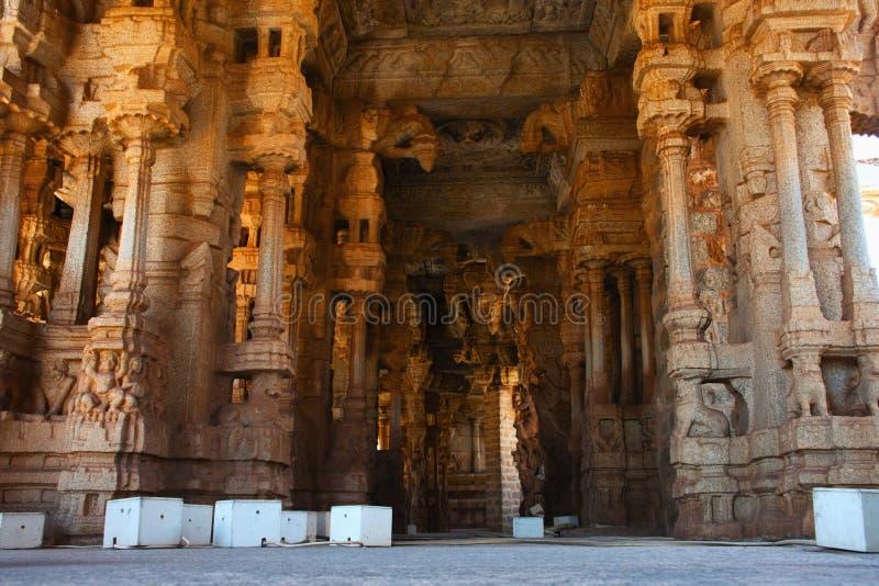 Musical Pillars at the Vittala Temple, Hampi, Karnataka, India.  stock photo