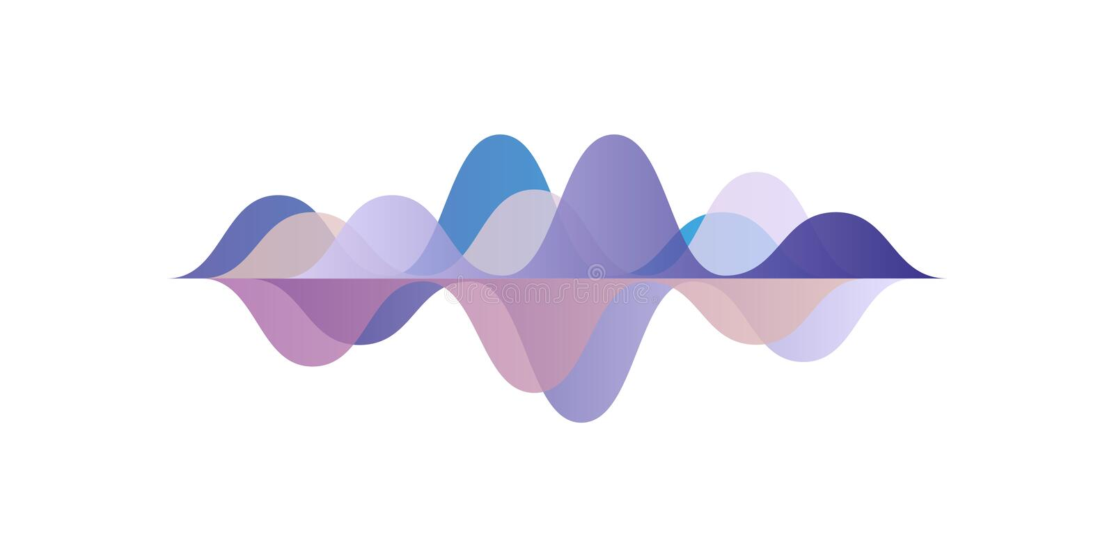 Musical pulse, sound waves, audio equalizer technology, vector Illustration on a white background royalty free illustration