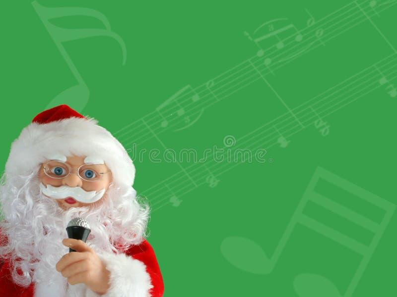 Musical santa stock photography