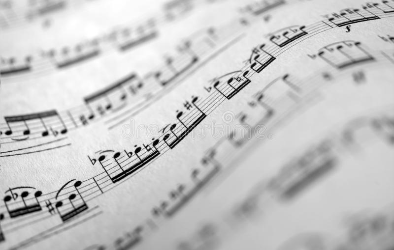 Musical score royalty free stock photos