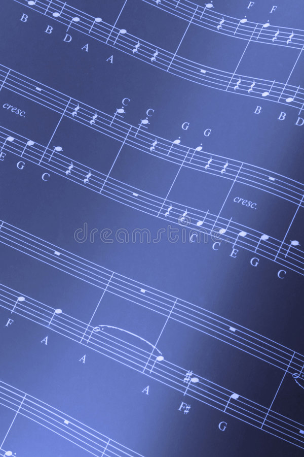 Musical score royalty free stock images