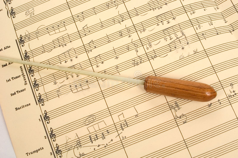 Download Musical Score With Conductor's Baton Stock Photo - Image of conductor, interpret: 10982