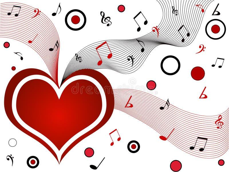 musical serca royalty ilustracja