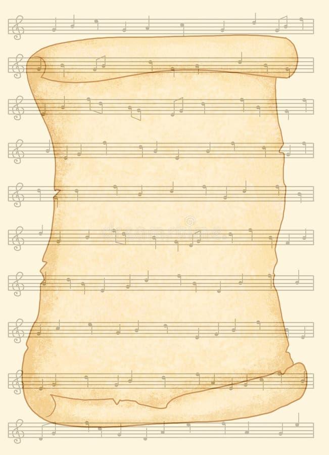 Download Musical sheet stock illustration. Illustration of sound - 14717723