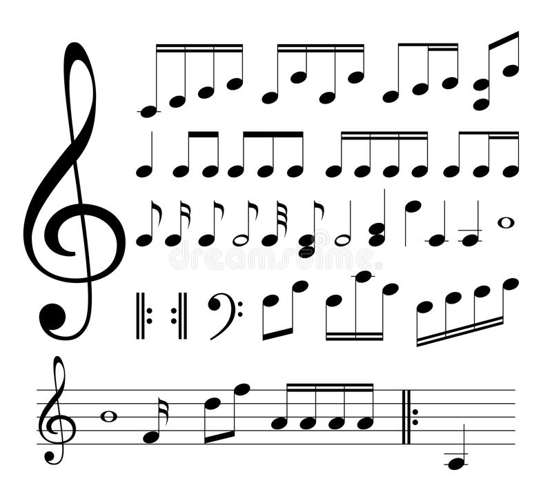 Musical signs. Notes vector illustration