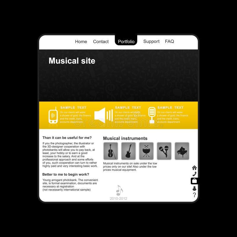 Musical site2 vector illustration