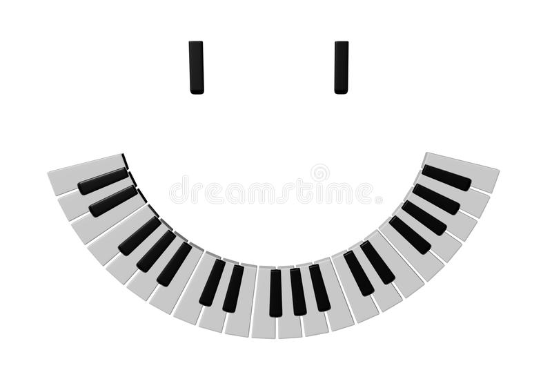 Musical smile stock image