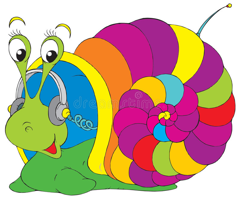 Musical snail stock illustration