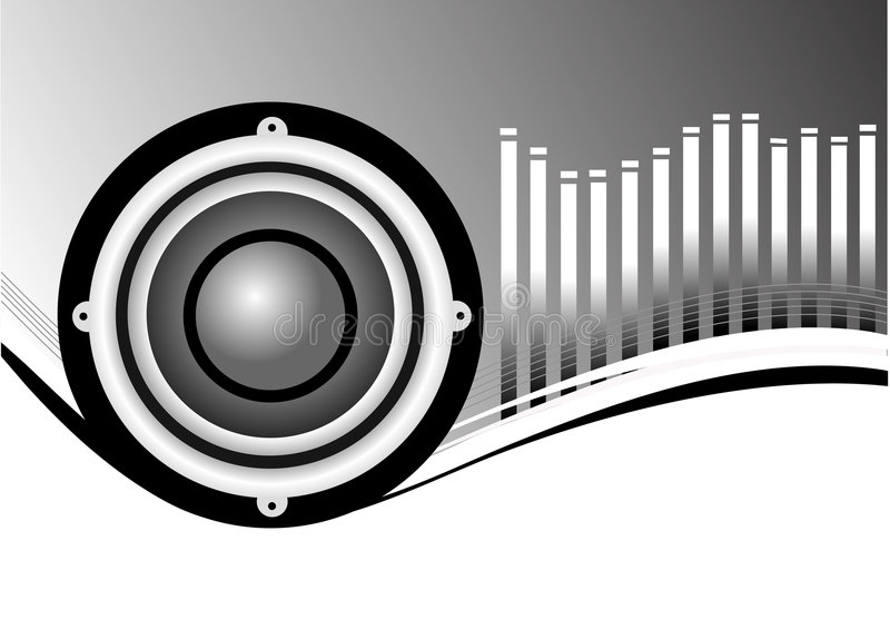 Musical Speakers Background Stock Images
