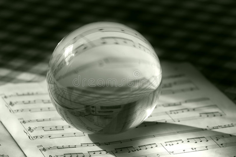 Musical sphere royalty free stock image