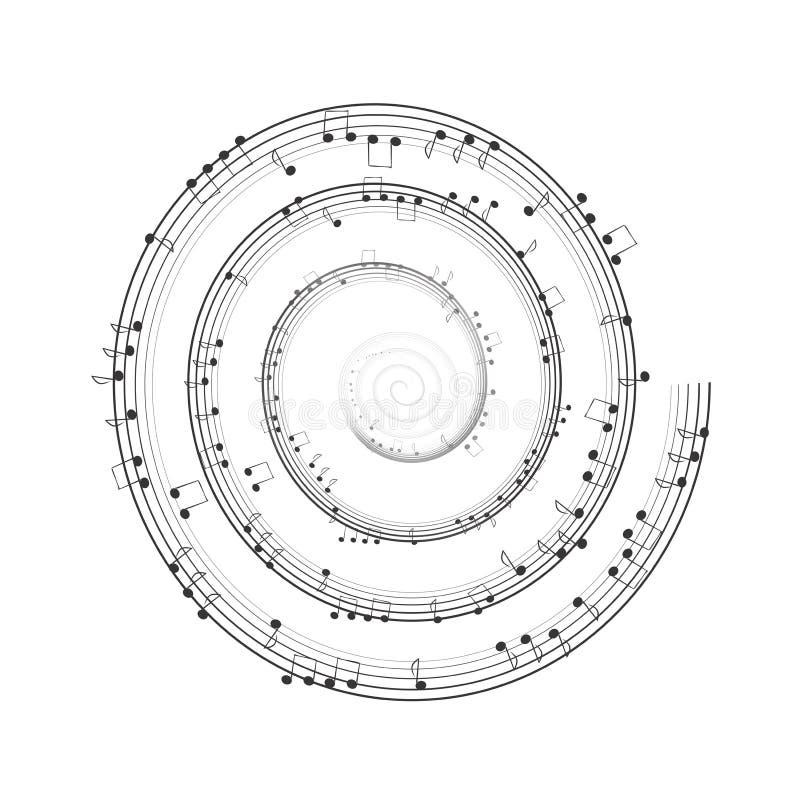 Musical spiral stock photo