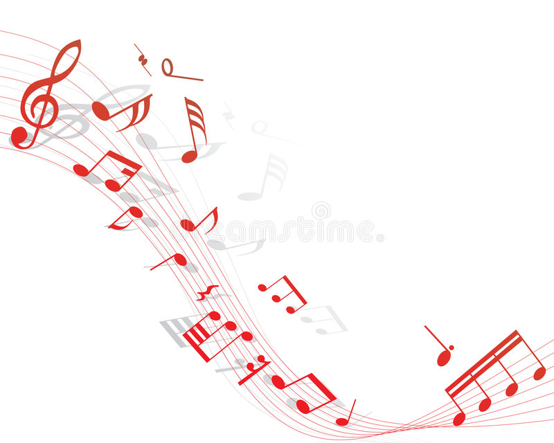 Musical staff vector illustration