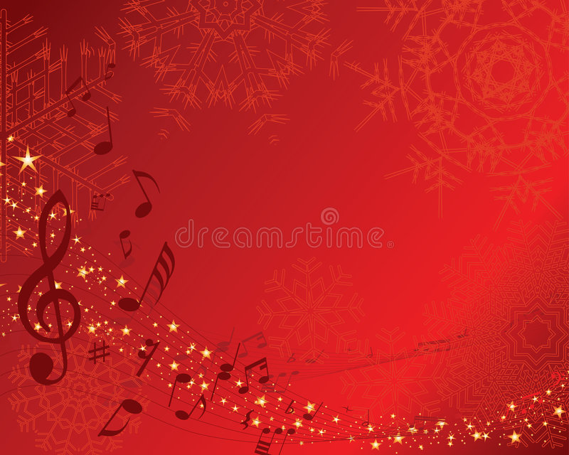 Musical staff royalty free illustration