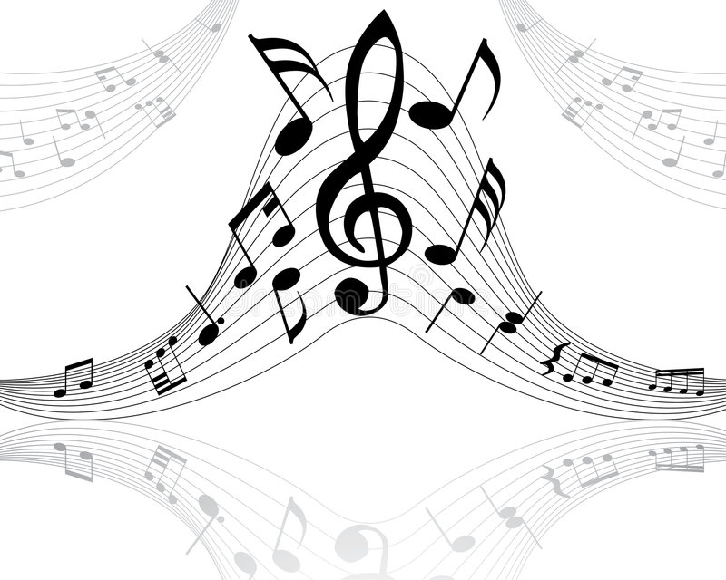 Musical staff. Musical note stuff vector backgrounds with notes and lines vector illustration