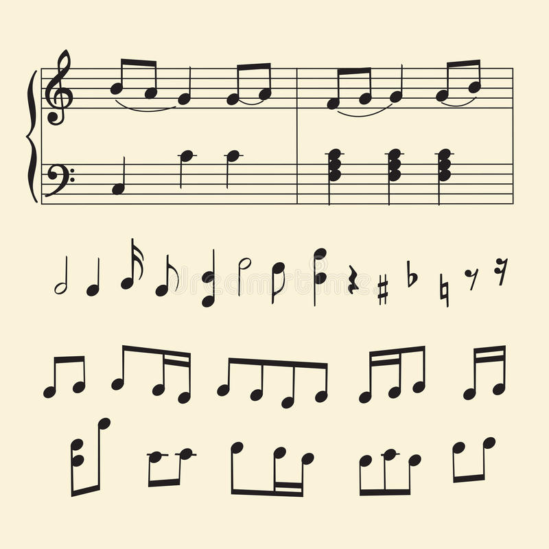 musical staff notes