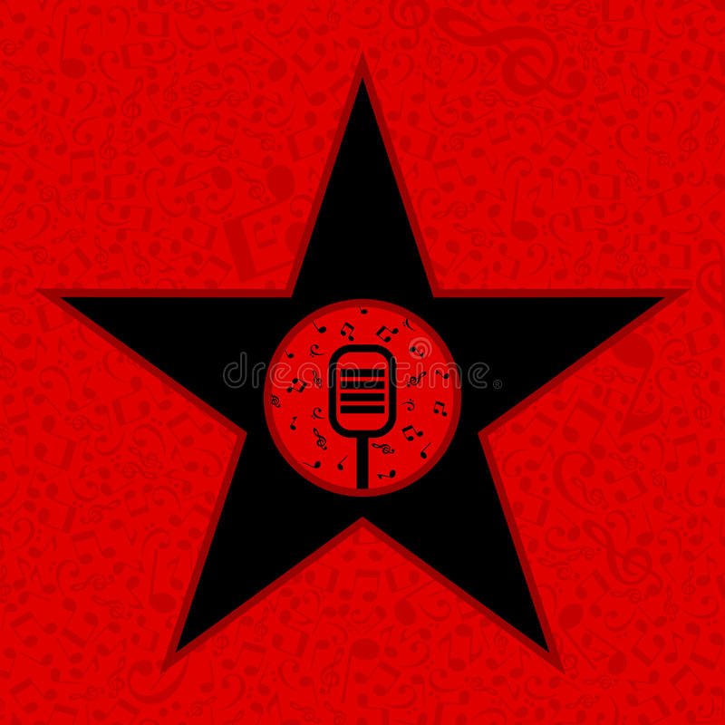 Musical star vector illustration