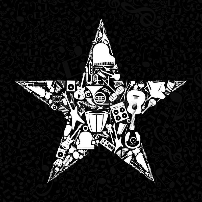 Musical star3 vector illustration