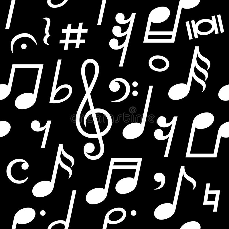 Musical Symbols Seamless Pattern. stock images